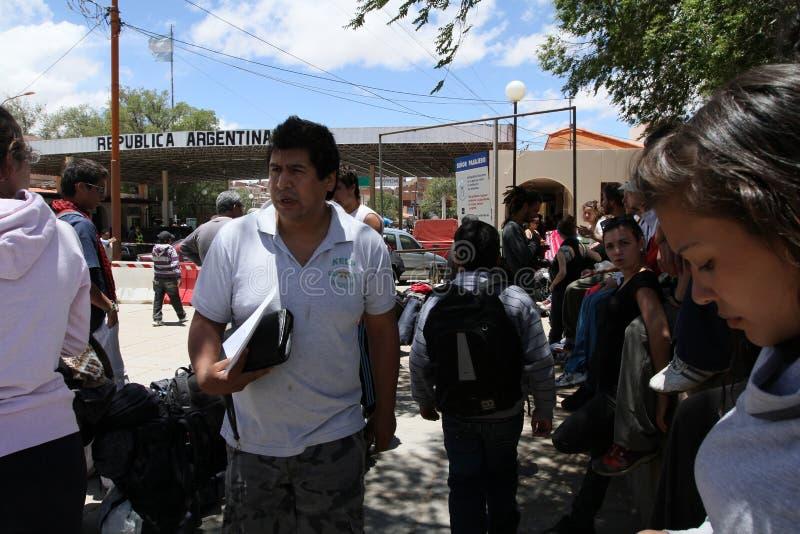 阿根廷玻利维亚人边界 免版税图库摄影