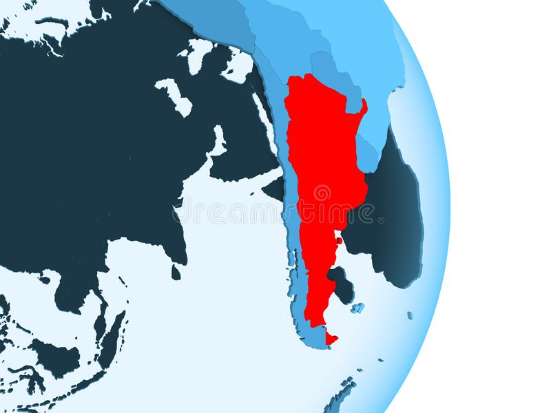 阿根廷的地图红色的 向量例证