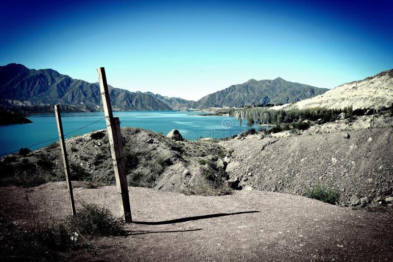 阿根廷的多山风景 库存照片