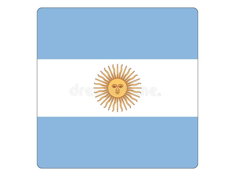 阿根廷的方形的旗子 向量例证