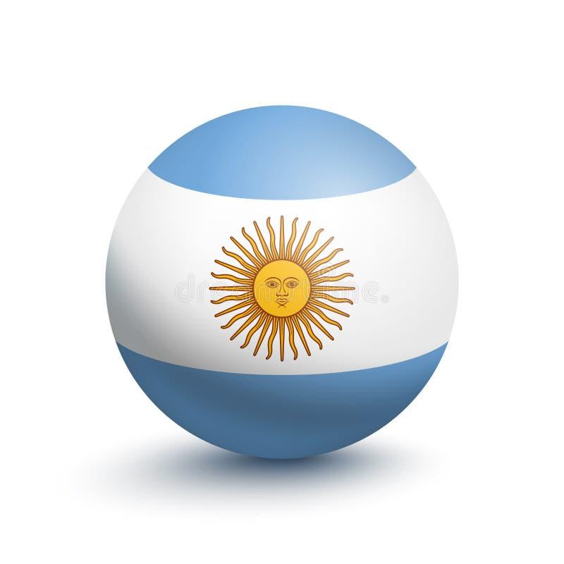 阿根廷的旗子以球的形式 皇族释放例证