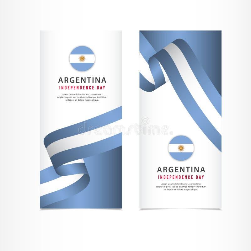 阿根廷美国独立日庆祝,横幅布景传染媒介模板例证 皇族释放例证