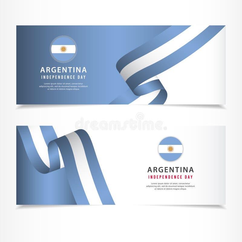 阿根廷美国独立日庆祝,横幅布景传染媒介模板例证 库存例证