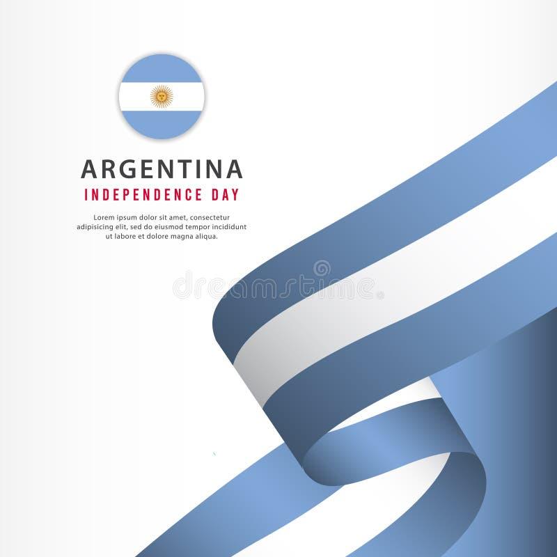 阿根廷美国独立日庆祝,横幅布景传染媒介模板例证 向量例证