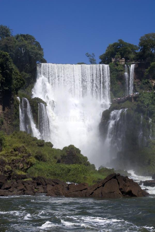 阿根廷落iguazu s 库存照片
