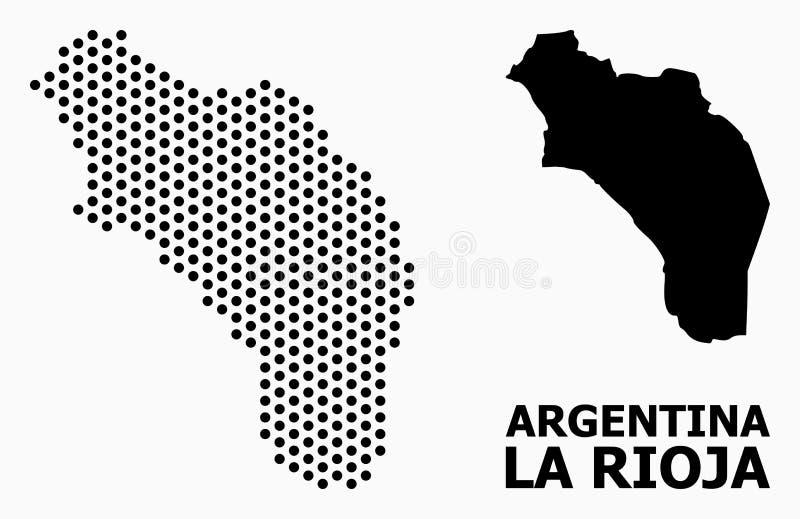 阿根廷-拉里奥哈光点图形地图  库存例证