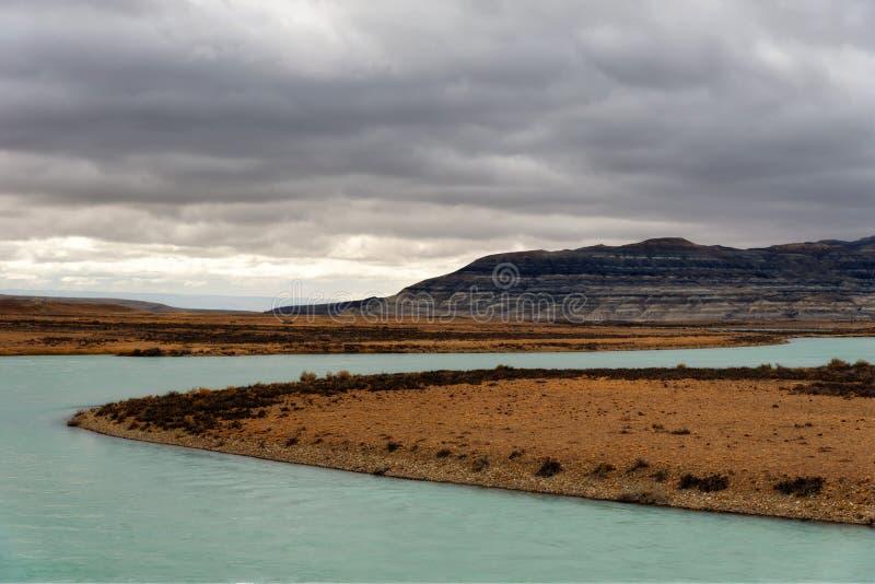 阿根廷Lago Argentino 库存照片