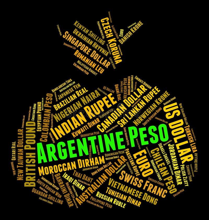 阿根廷比索显示汇兑和钞票 库存例证
