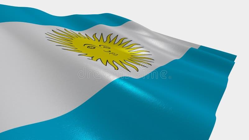 阿根廷的旗子 皇族释放例证