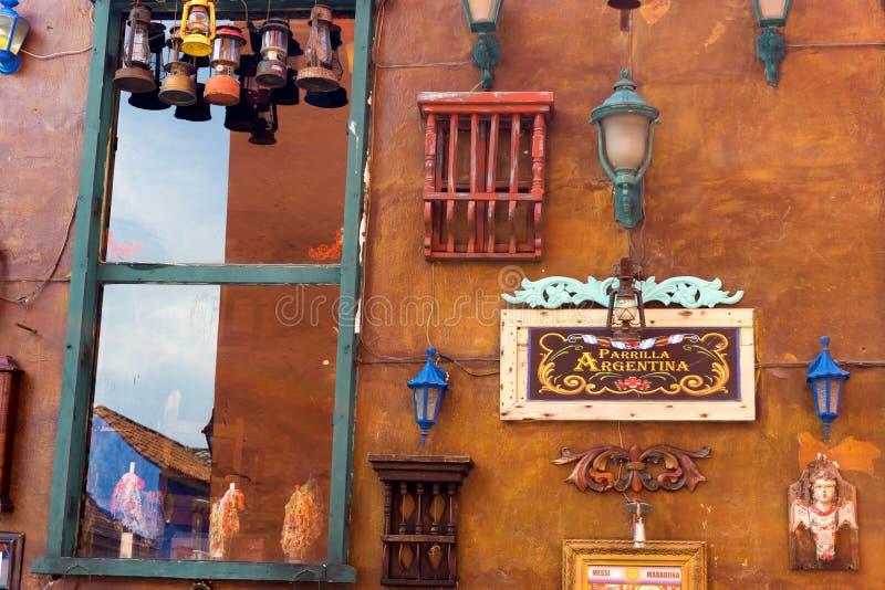阿根廷餐馆在卡塔赫钠 免版税图库摄影