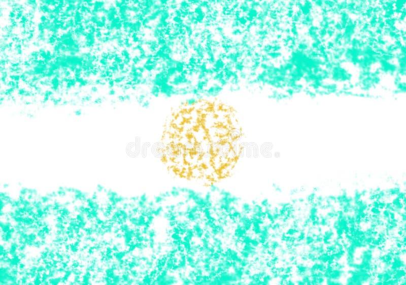 阿根廷` s旗子的例证 库存例证