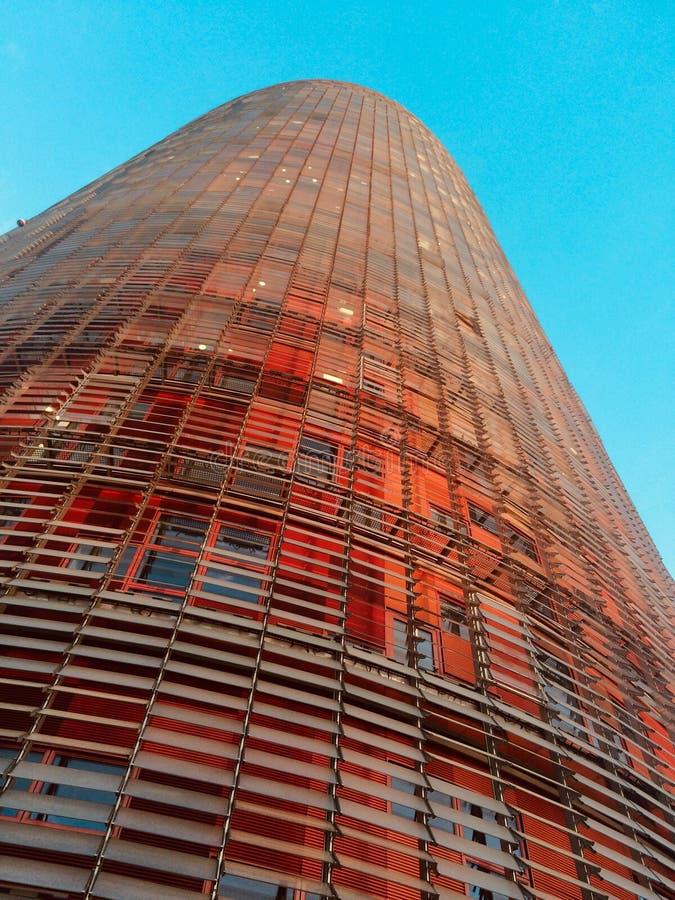 阿格巴塔,巴塞罗那,西班牙接近的看法  免版税库存图片