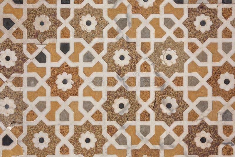 阿格拉包括详细资料皇帝印度镶嵌细工大理石被擦亮的石表面坟茔财务官 免版税库存图片
