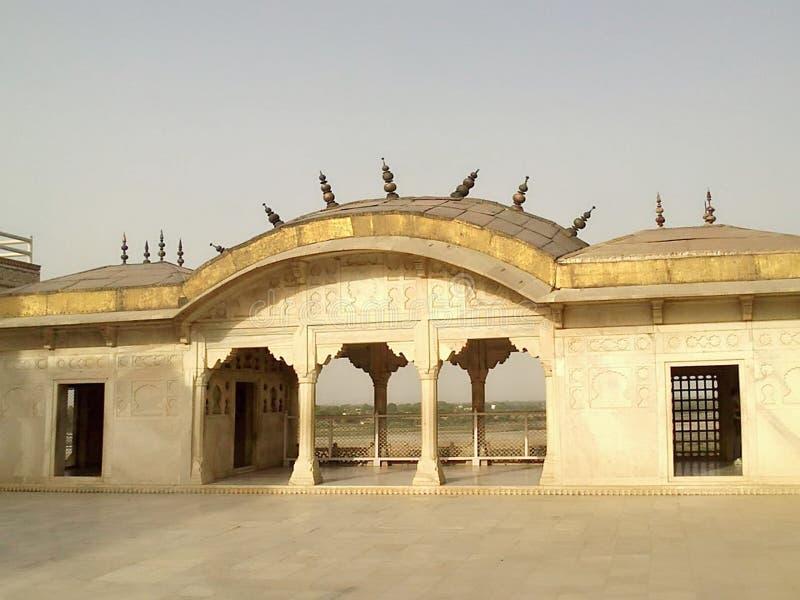 阿格拉堡垒历史mugal皇帝纪念碑 免版税库存图片