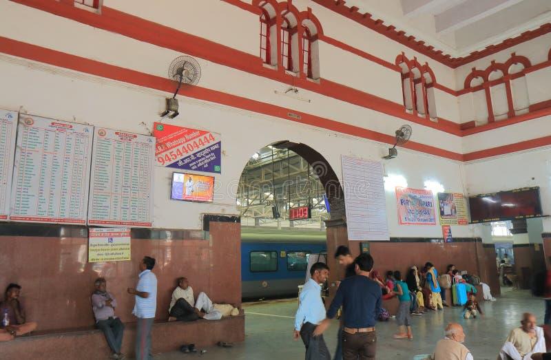 阿格拉堡火车火车站阿格拉印度 库存照片