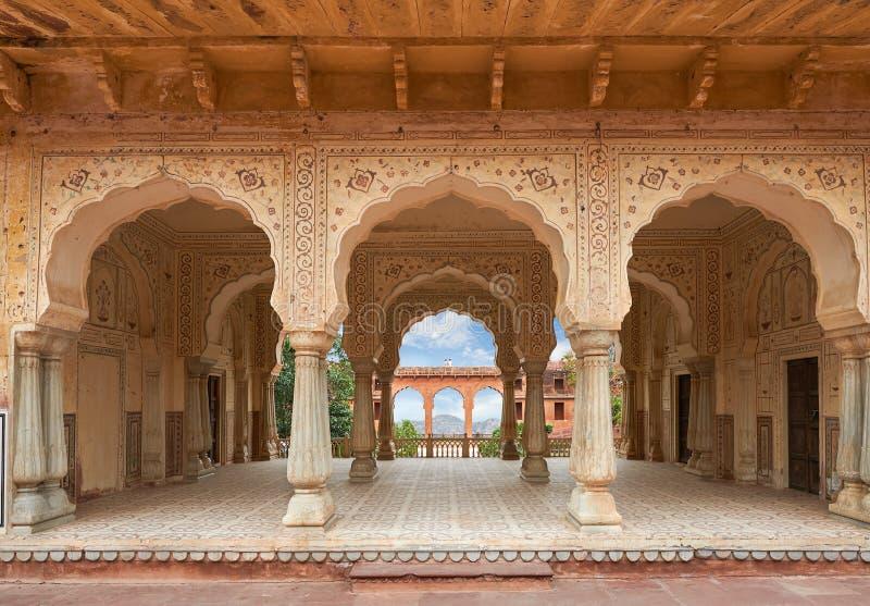 阿梅尔堡垒位于阿梅尔,拉贾斯坦,印度 库存图片