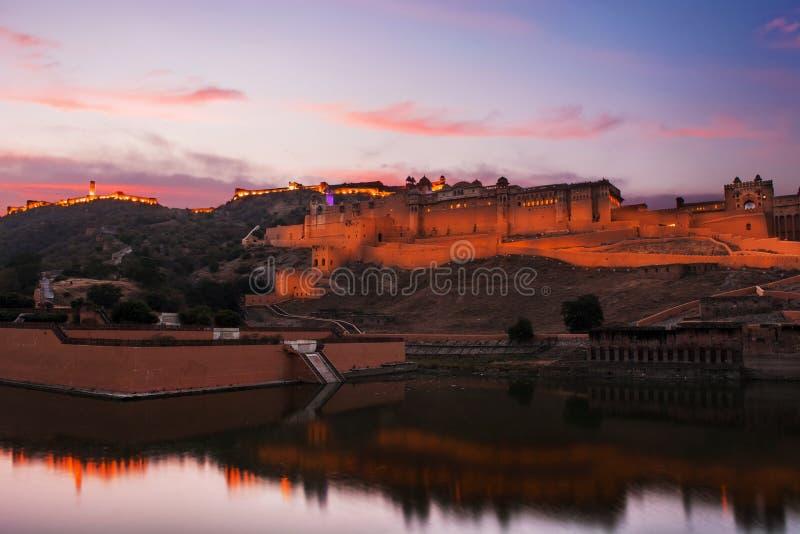 阿梅尔堡垒在斋浦尔,拉贾斯坦,印度 库存图片