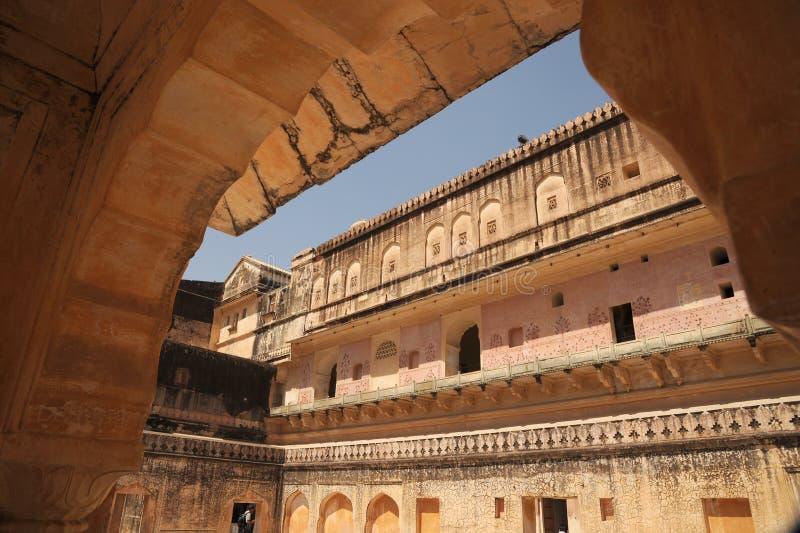 阿梅尔宫殿建筑遗产斋浦尔,印度 库存照片