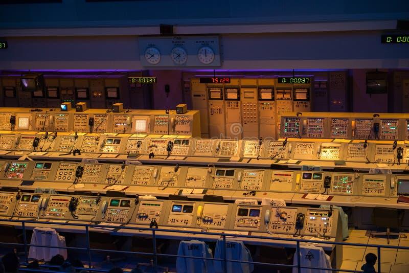 阿波罗使命管制美国航空航天局肯尼迪航天中心 免版税库存照片
