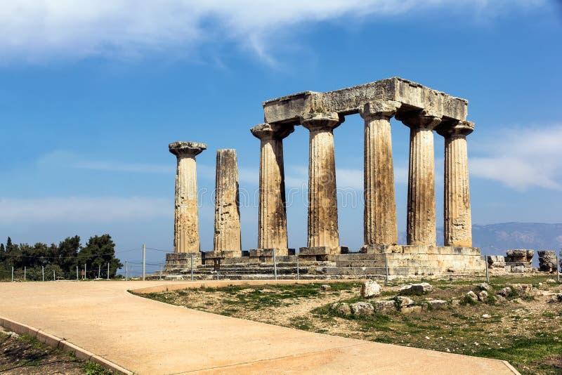 阿波罗寺庙希腊 库存图片
