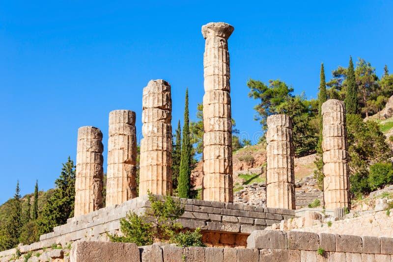 阿波罗希腊寺庙 图库摄影