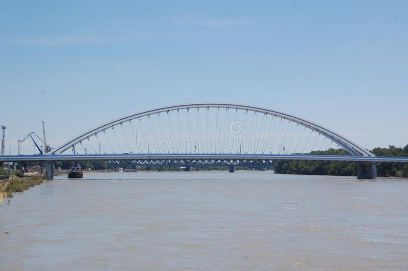 阿波罗桥梁 免版税库存图片