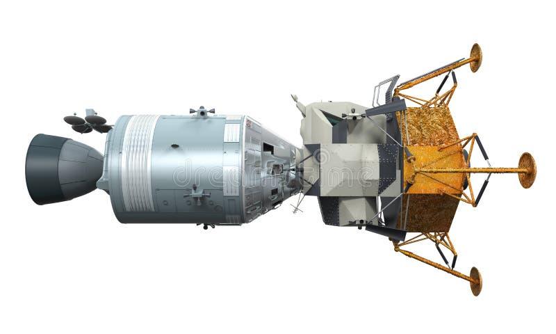 阿波罗模块相接 向量例证