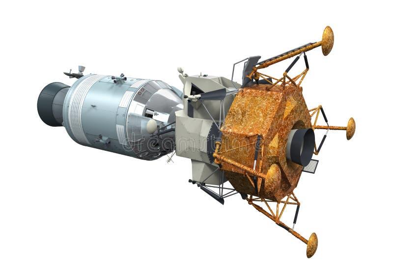 阿波罗模块相接 库存例证