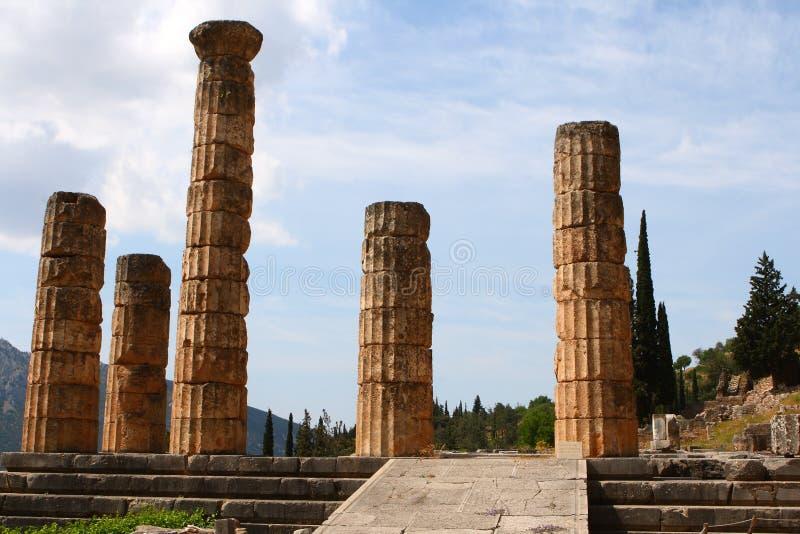 阿波罗特尔斐希腊寺庙 库存照片