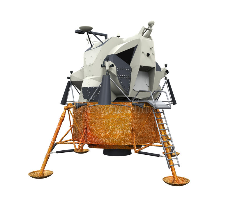 阿波罗登月舱 库存例证