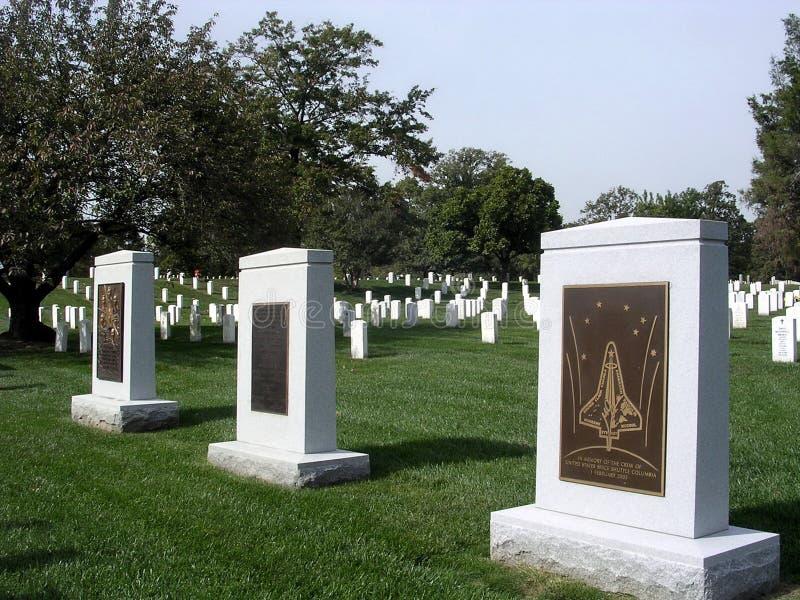 阿灵顿公墓哥伦比亚和挑战者纪念品2004年 库存图片