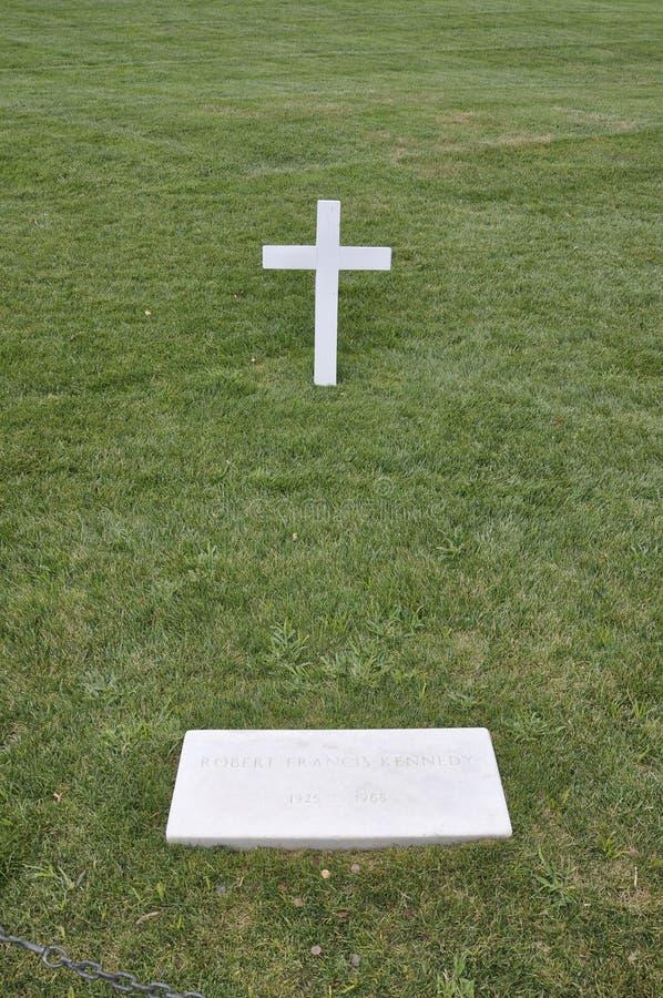 阿灵顿公墓, 8月5日:阿灵顿国家公墓从弗吉尼亚的罗伯特肯尼迪坟茔 免版税库存图片