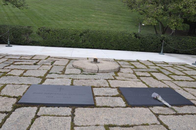 阿灵顿公墓, 8月5日:阿灵顿国家公墓从弗吉尼亚的肯尼迪总统坟茔 库存图片