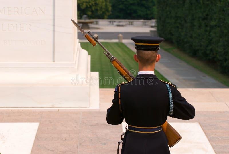 阿灵顿墓地卫兵荣誉称号 库存图片