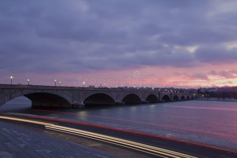 阿灵顿纪念品桥梁 免版税库存图片