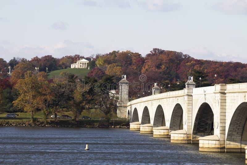 阿灵顿纪念品桥梁 库存照片