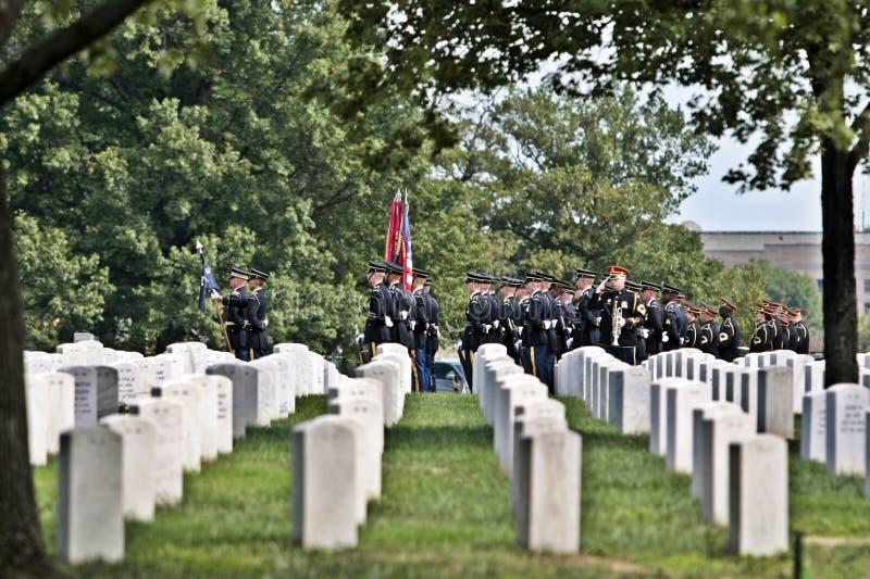 阿灵顿陆军葬礼 免版税库存图片