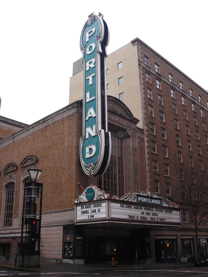 阿琳施尼策尔音乐堂在波特兰,美国 库存图片