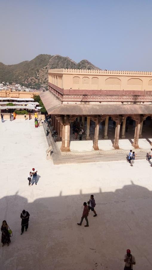 阿米尔Kila阿梅尔Garh堡垒遗产秀丽 免版税库存照片