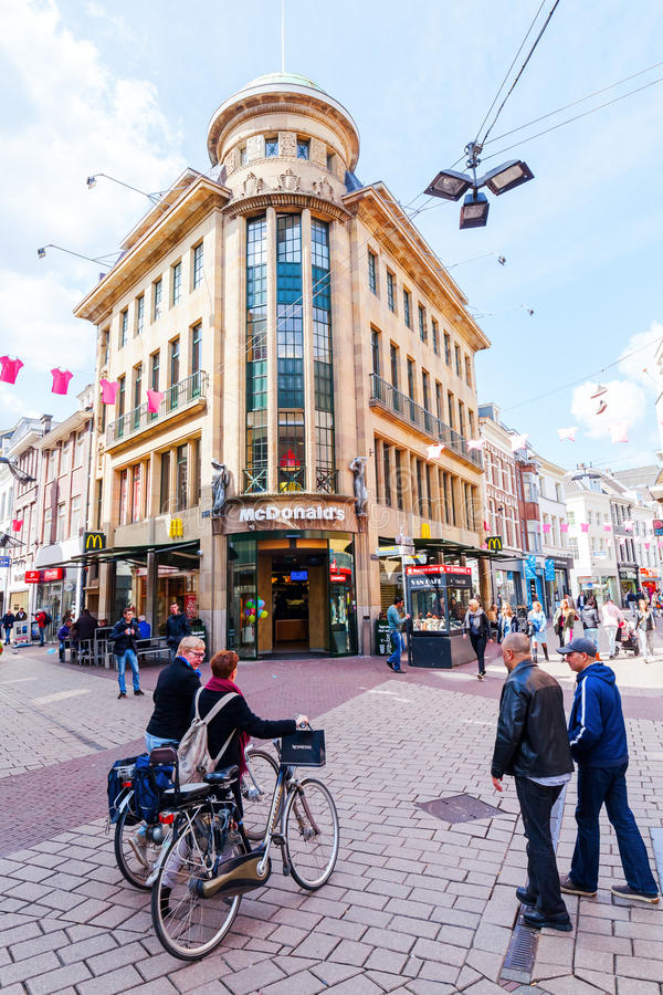 阿纳姆,荷兰的市中心的看法 库存图片