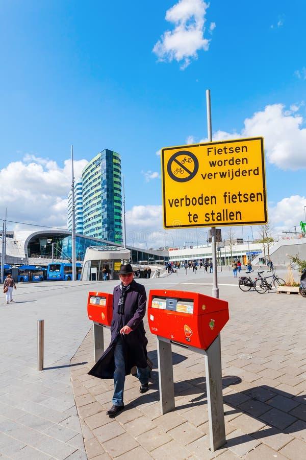 阿纳姆Centraal火车站在阿纳姆,荷兰 库存图片