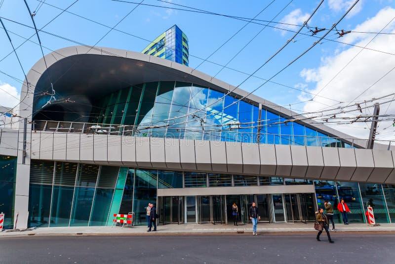 阿纳姆Centraal火车站在阿纳姆,荷兰 免版税库存图片