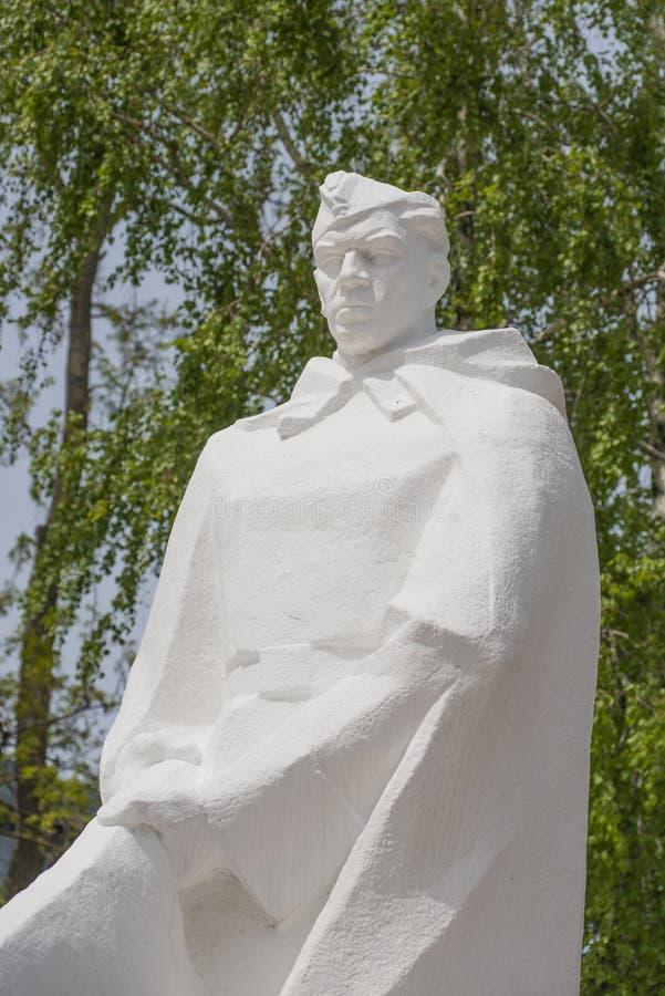 阿纳帕,俄罗斯,9可以2018年 对红军的战士的纪念碑 免版税库存图片