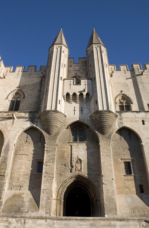 阿维尼翁入口法国主要宫殿教皇 库存图片