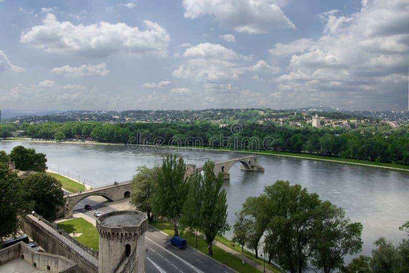 阿维尼翁桥梁著名s 库存照片