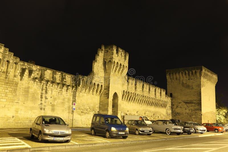 阿维尼翁筑了堡垒于法国墙壁 库存照片