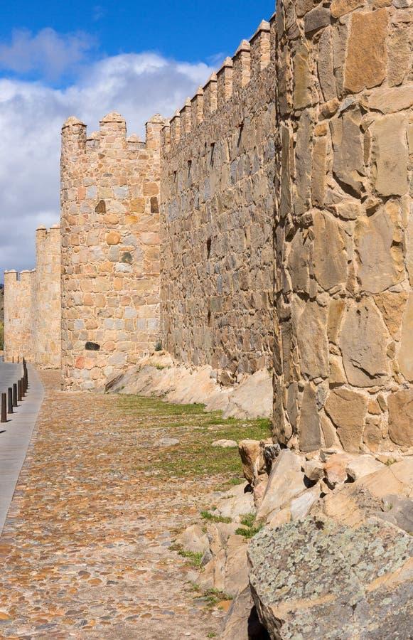 阿维拉围墙 库存照片