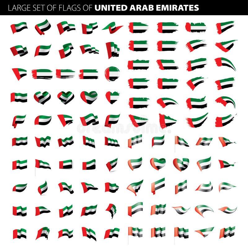 阿联酋旗子,传染媒介例证 皇族释放例证