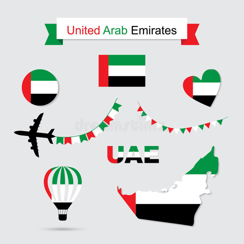 阿联酋标志 库存例证