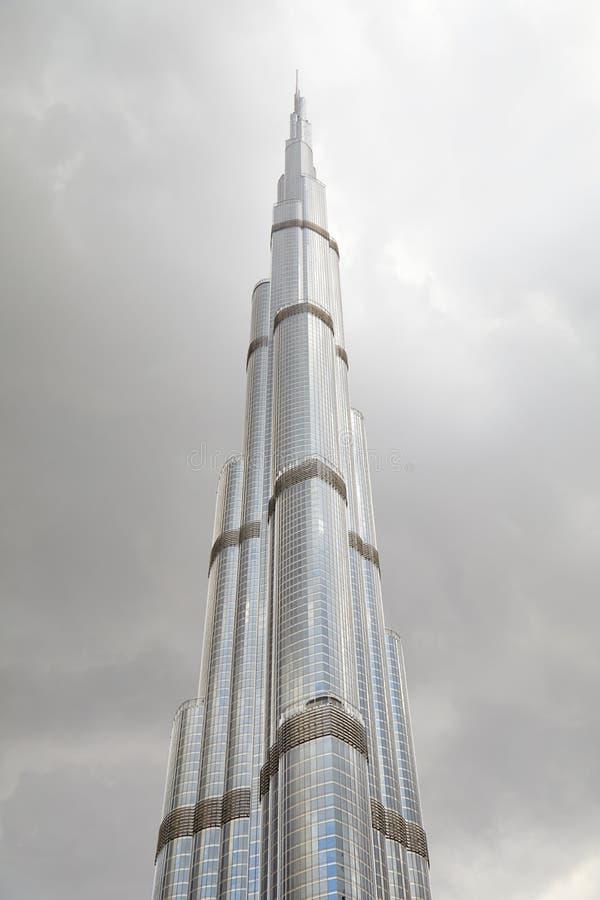 阿联酋迪拜塔塔塔和多云的天空 免版税库存照片